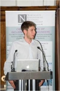 Simon giving a talk at the NETP Awards Evening 2012